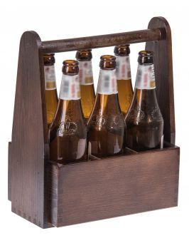 Skrzynka na piwo NOSIDŁO prezent urodziny grawer brąz