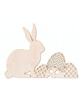 Zajączek Wielkanocny z jajkiem na podstawce