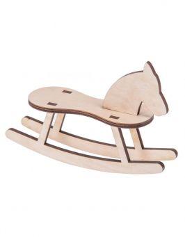 Drewniany koń na biegunach 6 - mały