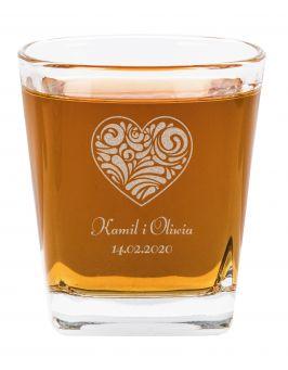 Szklanka do Whisky Walentynki grawer