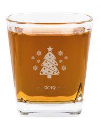 Szklanka do whisky Sylwester Święta grawer