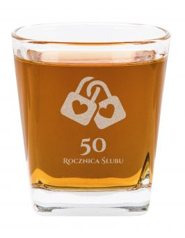 Szklanka do whisky Rocznica Ślubu grawer