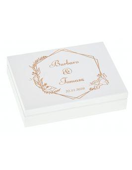 Pudełko na obrączki ŚLUB wesele szkatułka