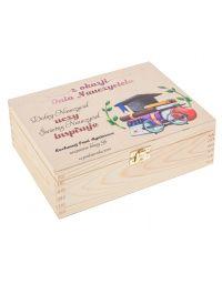 Prezent na Dzień Nauczyciela pudełko pamiątka 22x16 nadruk