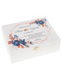 Prezent na Wesele Niezbędnik Małżeński ślubny 22x16 kolor biały nadruk