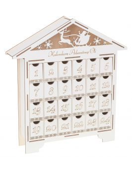 Kalendarz Adwentowy drewniany domek na święta
