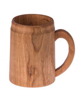 Drewniany kufel, kubek z rączką