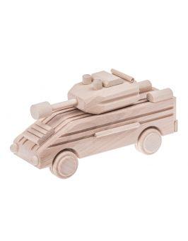 Drewniany czołg pancerny, zabawka