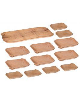 Koryto drewniane + 12 talerzyków