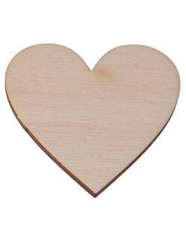 Drewniane serce 5x5cm 1 szt.