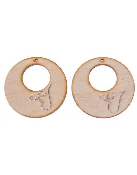 Kolczyki okrągłe 5,0cm-2