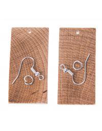 Kolczyki drewniane prostokątne 5,0x2,5 cm