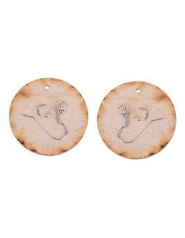 Kolczyki okrągłe 3,5cm-1