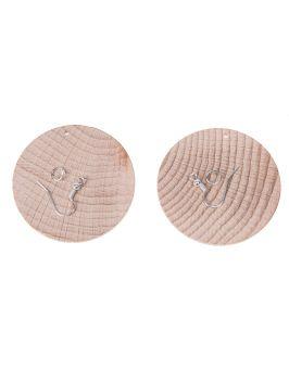 Kolczyki drewniane okrągłe 5,0cm