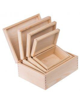 Pudełko pojemnik 4w1 prostokąt