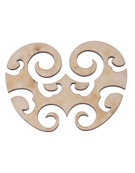 Ażurowa dekoracja z drewna A4