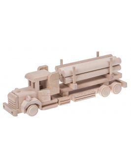 Tir z balami drewniana zabawka