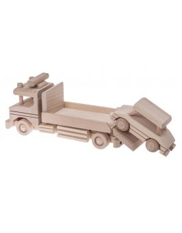 Auto laweta drewniana zabawka