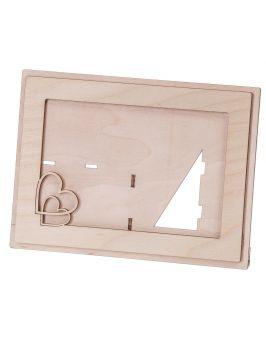 Ramka na zdjęcie drewniana 15x10cm