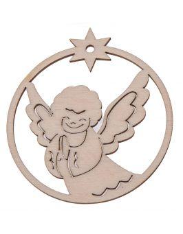 Zawieszka świąteczna bombka - Aniołek P12