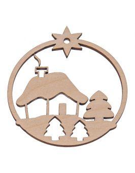 Zawieszka świąteczna bombka - Domek P14