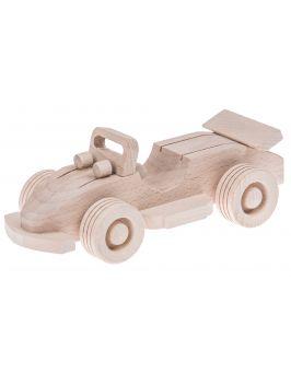 Wyścigówka drewniana zabawka