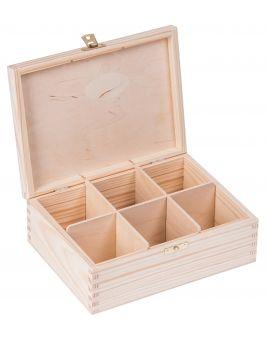 Pudełko pojemnik na herbatę herbaciarka NELA 6-Z