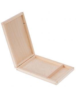 Drewniane pudełko na płyty CD i pendrive