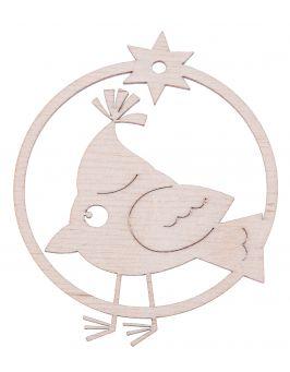 Zawieszka świąteczna bombka - Ptaszek P11