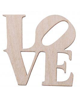 Drewniany napis LOVE mały scrapki ozdoba decoupage