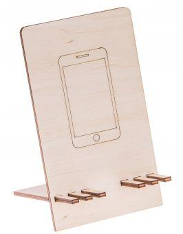 Drewniana podstawka stojak na telefon 1
