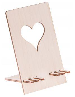 Drewniana podstawka stojak na telefon 2
