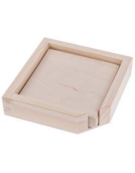 Pudełko na podkładki + 6 podkładek