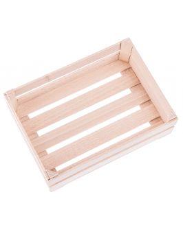 Drewniana mini skrzyneczka 17,5x12,0 cm