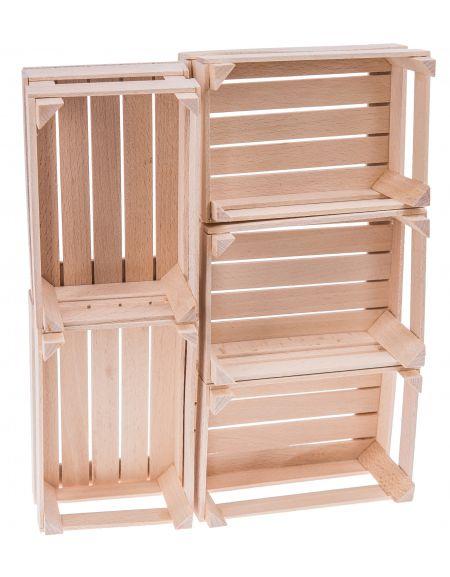 Drewniana mini skrzyneczka 17,5x12,0 cm 5 sztuk