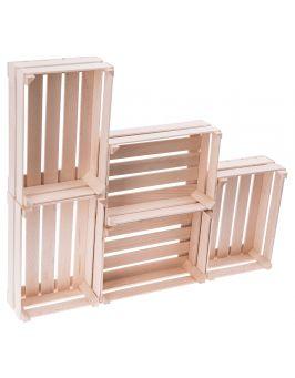 Drewniana mini skrzyneczka 12,5x8,5 cm 5 sztuk