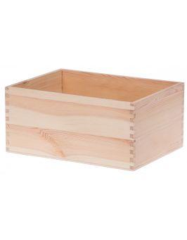 Drewniany pojemnik organizer 22x16x10 cm