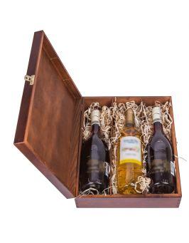 Pudełko na wino CARMEN III - orzech