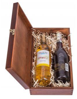 Pudełko na wino CARMEN V - orzech