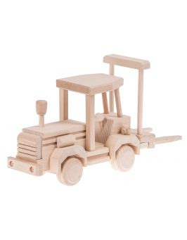 Wózek widłowy drewniana zabawka