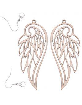Kolczyki skrzydła 7,5x3,2 cm