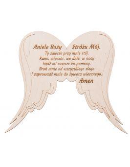 Skrzydła anielskie z modlitwą GRAWER
