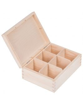 Pudełko pojemnik na herbatę herbaciarka 6 przegród