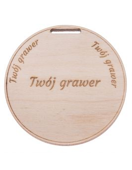 Medal drewniany 6 mm + GRAWER