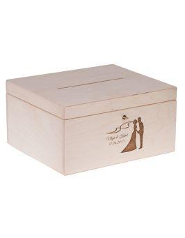 Pudełko na koperty ślubne 25x29x15 cm + GRAWER