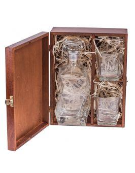 Pudełko na alkohol Aleksy - orzech