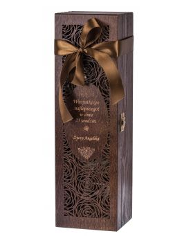 Pudełko na wino Carmen II ciemny brąz GRAWER + GRATIS