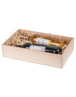 PUDEŁKO SKRZYNKA na wino święta prezent DECOUPAGE!