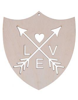 Tarcza LOVE, zawieszka