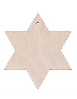 Zawieszka gwiazdka 6ramienna 7cm S13